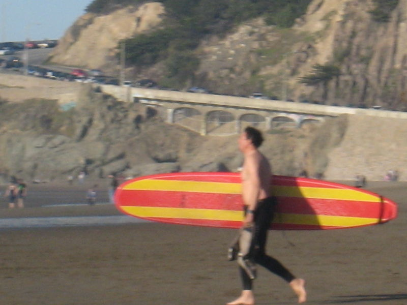 Surfer c in january SF