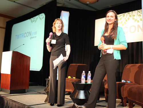 Tonia and gina on stage